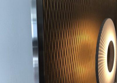 Angle de mur Inox Brossé