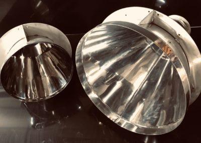 Trémie conique inox Poli Miroir
