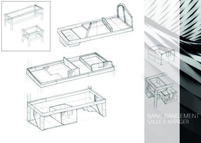 Banc de rangement Design