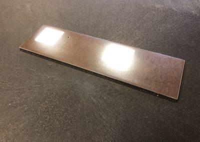 Plaque Inox Polimiroir flouté STM24